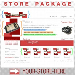 Boxy Red with your ENHANCED PRODUCT IMAGE - Custom Y-S-H eCRATER Store Package