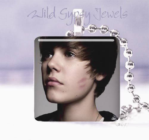 "Hot sexy Justin Bieber 1"" glass tile pendant necklace Unique GIFT"