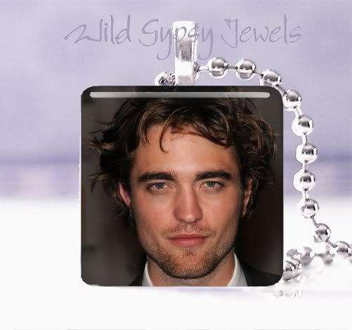 "Twilight saga EDWARD Rob Pattison 1"" pendant Necklace"