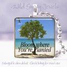 Summer Ocean Sea Beach BLOOM Tree sand glass pendant
