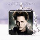 """Hot GIFT IDEA EDWARD Twilight saga 1"""" glass tile pendant Necklace gift idea"""