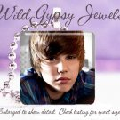 "Justin Bieber young dreamy sweet JB 1"" glass tile pendant necklace FAN gift idea"