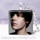"""Justin Bieber Sweet Kiss dreamy JB 1"""" glass tile pendant necklace FAN gift idea"""