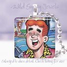 """Archie"" comic book hero 1941 classic retro chic 1"" glass tile pendant necklace"