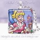 """Archie"" comic book hero Betty 1941 classic retro 1"" glass tile pendant necklace"