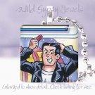 """Archie"" comic book hero Reggie 1941 classic retro 1"" glass tile pendant necklac"
