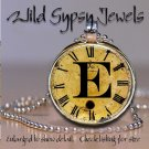 Altered Art CLOCK face glass round cabochon Necklace Pendant Charm Initial ~ E