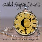 Altered Art CLOCK face glass round cabochon Necklace Pendant Charm Initial ~ C