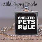 Speak UP for PETS Cat lover dog canine feline glass tile metal pendant necklace