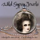 """Marie Antoinette Classical Goth Punk round 1"""" glass tile metal pendant necklace"""