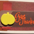 Give Thanks Pumpkin Greeting Card