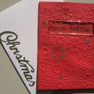 Embossed Red Snowflake Happy Holiday Card