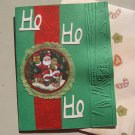 Ho Ho Ho Santa Embossed Christmas Card