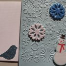 Snowflake Embossed Christmas Card