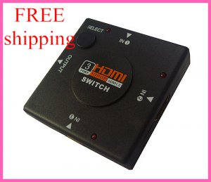 Free shipping HDMI 3 Ports Switch, Switcher, Selector For TV HDTV