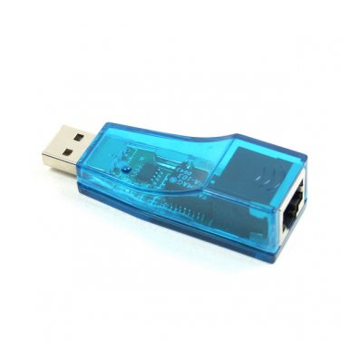 USB to LAN RJ45 Ethernet 10/100 Mbps Network Adapter Blue