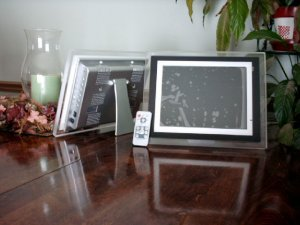 """5 - 10.4"""" LCD Digital Photo Acrylic Frame - MP3 & Video - 1GB - with Remote"""