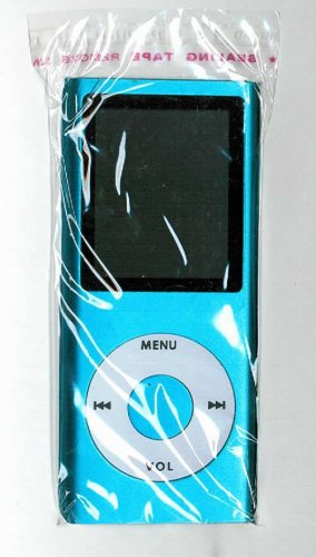 50 - 1.8 inch 4GB Ipod Nano Style MP3-MP4 Video Player with Voice recorder & FM Radio -Blue