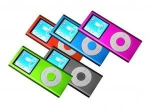 5 - 1.8 inch 4GB Ipod Nano Style MP3-MP4 Video Player w/ Voice recorder and FM Radio - Mixed Set