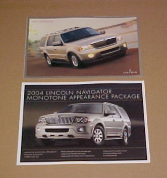 2004 Lincoln Navigator Monotone Limited Edition Brochure Set