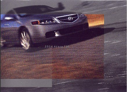 2004 Acura TSX New Factory Brochure