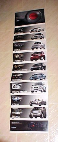 2005 Ford Mustang Cobra Concept Car Post Card Brochure Set