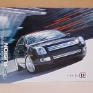 2006 Ford Fusion 2nd Edition Factory Brochure