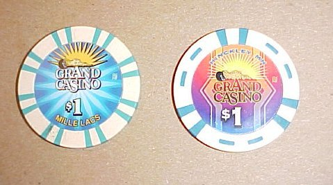 Grand Casino Mille Lacs & Hinckley Minnesota Indian Casino Chip Set