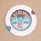 Excalibur Las Vegas Hotel & Casino Poker Chip