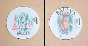 Ballys Paris Las Vegas Hotel & Casino Poker Chip
