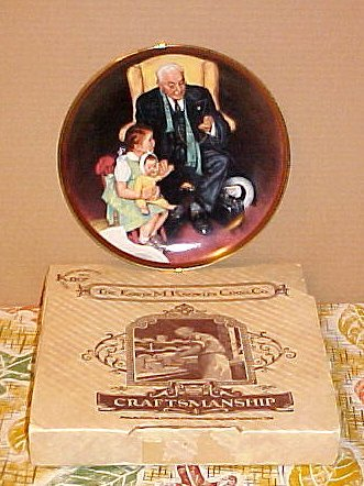 Norman Rockwell Knowles Tender Loving Care Knowles Plate