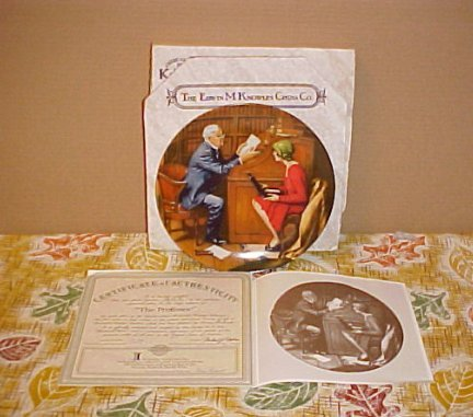 Norman Rockwell Knowles The Professor Knowles Plate