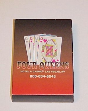 Four 4 Queens Las Vegas Suited New Poker Cards