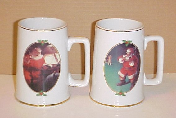 When Friends Drop In Coca Cola Santa Boys & Girls China Mugs