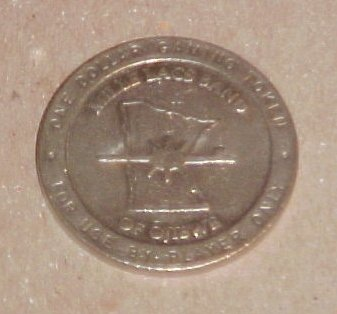 Grand Casino Mille Lacs Minnesota Retired $1 Token