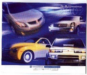 Brand New 2002 GM Oldsmobile Experience Calendar