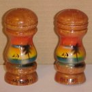 Hawaii Aloha Wooden Salt n Pepper Shakers