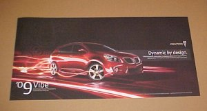 Pontiac Vibe Dynamic By Design 2009 New Poster