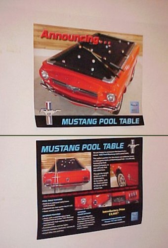 1965 Ford Mustang Classic Pool Table Brochure