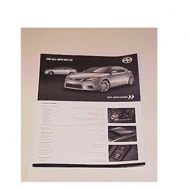 2011 Scion TC New Factory Sales Brochure