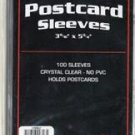 100 PACK BCW POSTCARD SLEEVES KEEP YOUR POSTCARDS CLEAN