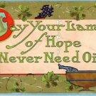 Lamp of Hope Vintage Arts & Crafts Postcard VP-5905