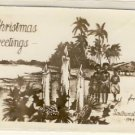 XMAS Greetings from South Pacific 1944 Postcard VP-4012