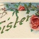 To My Sister Vintage Greeting Postcard VP-2586