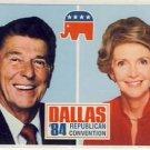 Ronald & Nancy Reagan 1984 Convention Postcard VP-2607