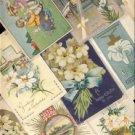 ANTIQUE Lot of 12 Vintage EASTER Postcards VP-6838
