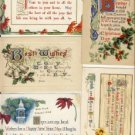 Great lot of 5 ARTS & CRAFTS CHRISTMAS Postcards VP5461