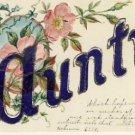 AUNTIE Antique Vintage Greeting Postcard VP-3838