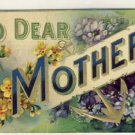 To My Dear Mother Vintage Greeting Postcard VP-6808