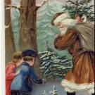 1908 German SANTA W/SACK & CHILDREN Postcard VP-5606